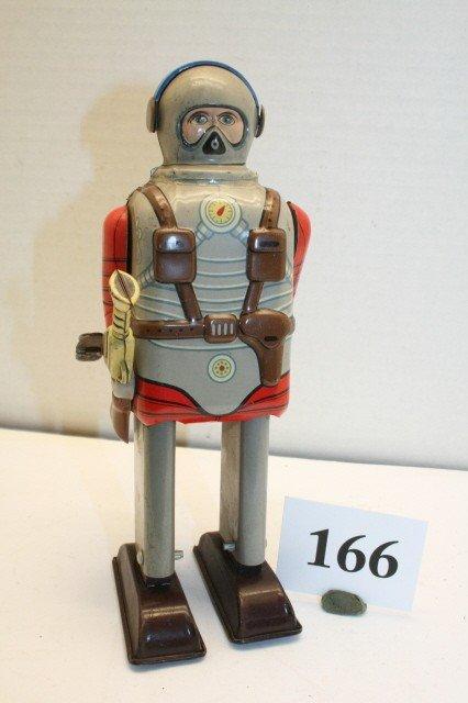 "166: ""TN"" Japanese Wind up Walking Astronaut"