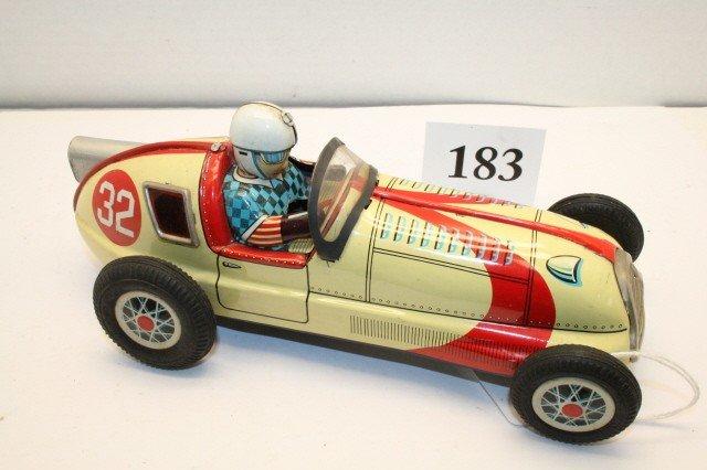 """183: Tin """"AAA"""" Japanese Race Car"""