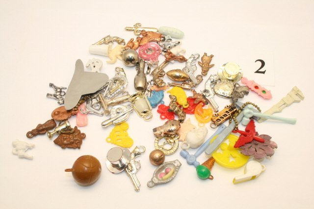 2: 70 Plastic Charms  Cracker Jack