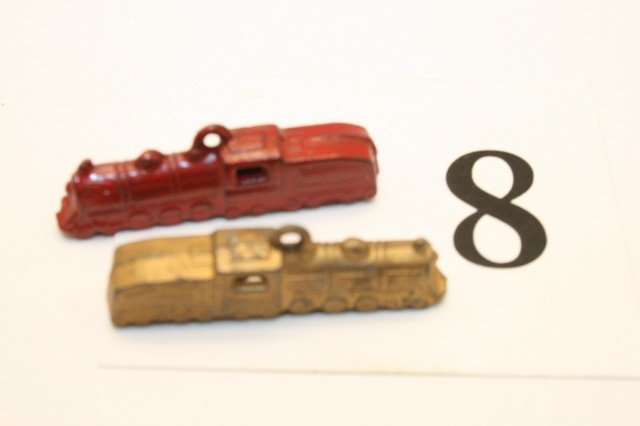 8: 2 Metal Train Charms