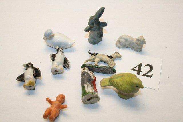 42: Bisque, Metal, iron figures