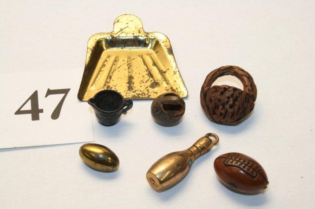 47: Dust Pan, Football, Nut Baskets