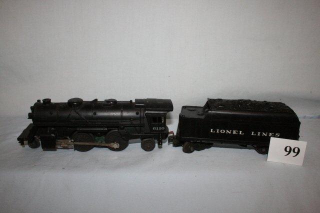 99: Lionel 6110 W 6466 W Tender