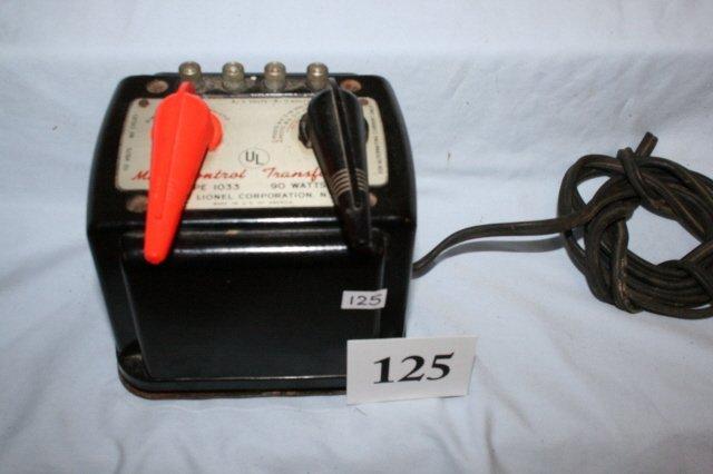 125: Lionel Type 1033 Transformer