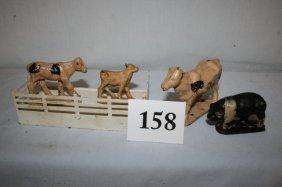 4 Animals & Fence
