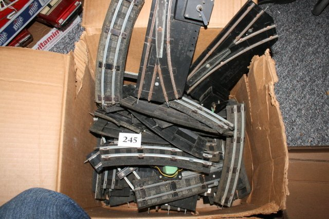 245: Box of American Flyer Track