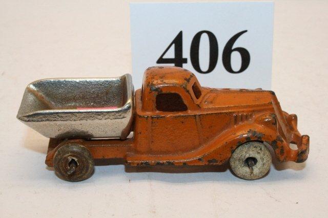406: Cast Iron Hubley Dump Truck