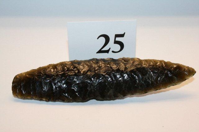 25: Obsidian Agate Basin Point
