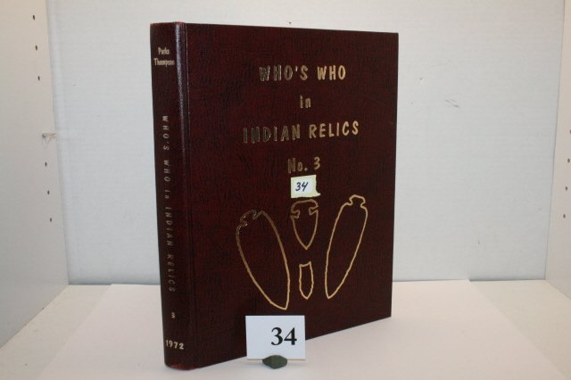 """34: Book – """"Who's Who in Indian Relics #3"""