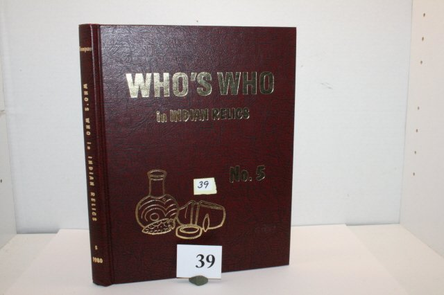 """39: Book – """"Who's Who #5 In Indian Relics"""""""