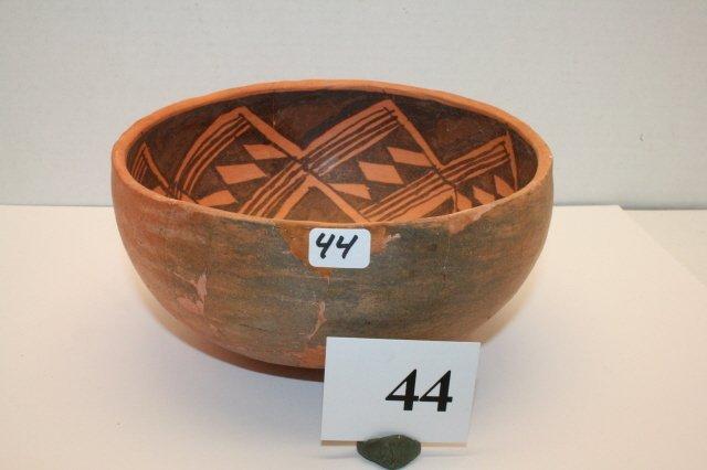44: Anasazi Black on Red Bowl