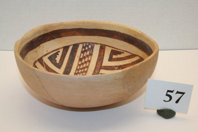 57: San Juan Pueblo II Pottery Bowl