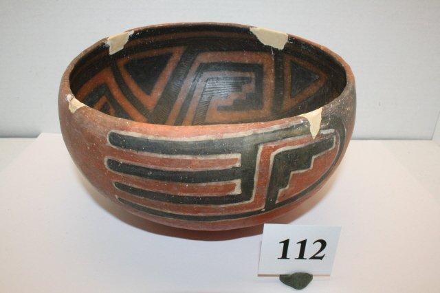 112: Anasazi Salado Pottery Bowl