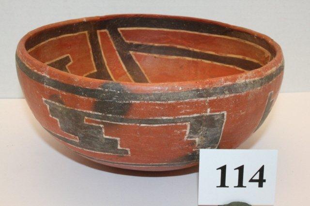 114: Polychrome Salado Bowl