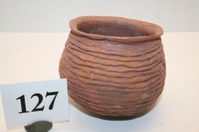 String Construction Pottery Jar