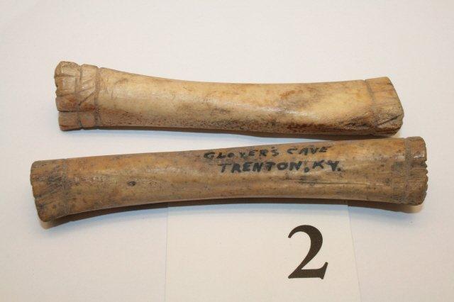 2: (2) Bone Engraved Pendants