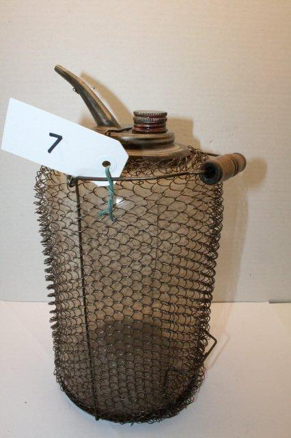 7: Glass Kerosene Container