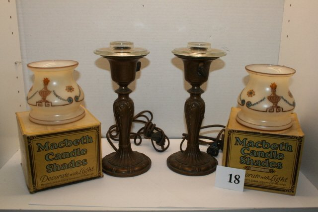 18: Pair of Bronze  Lamps