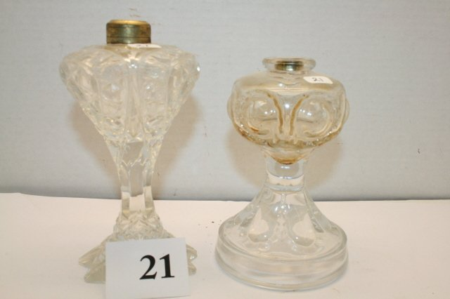 21: Two Miniature Oil Lamps