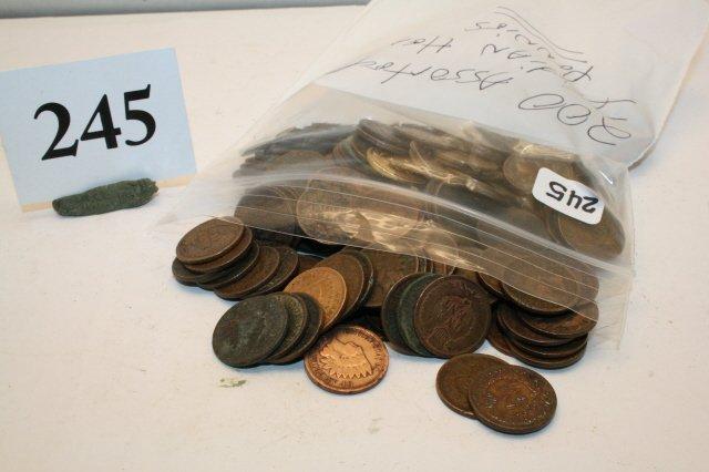 245: 200 Assorted Indian Head Pennies