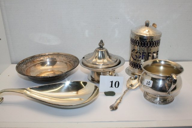 10: Misc. Silver Plate pieces