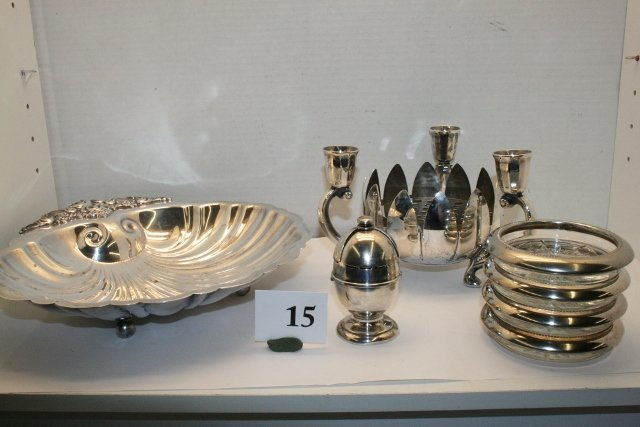 15: Misc. Silver Plate Pieces