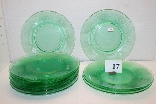 17: Tiffin Nile Green Plates