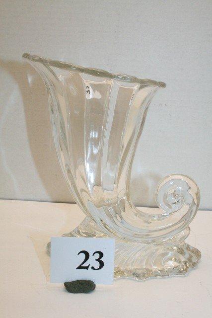 23: Tiffin Cornucopia Vase