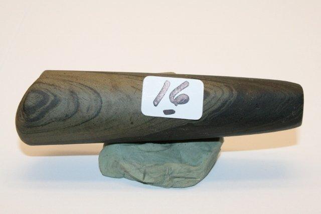 16: Banded Slate Tube Pipe