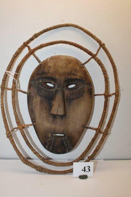 43: Inuit Wood Mask