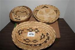476: 8 Assorted Papago Indian Baskets
