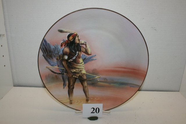 20: Hand Painted Nippon Indian Plate