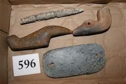 596 Repro Birdstone Gorget