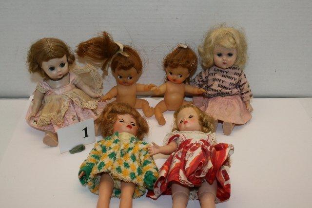 5 Assorted Dolls