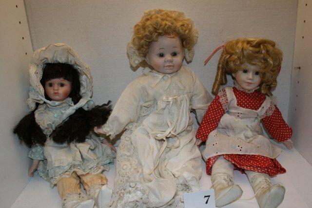 3 Contemporary Dolls