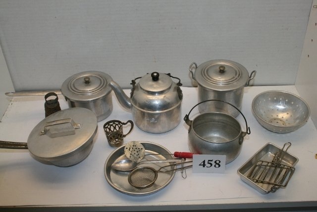 13 Aluminum Miniature Kitchen Utensils