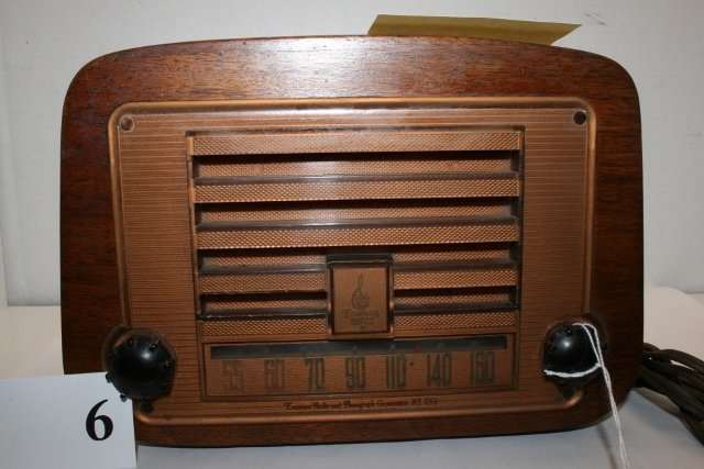 Two wood cased radios