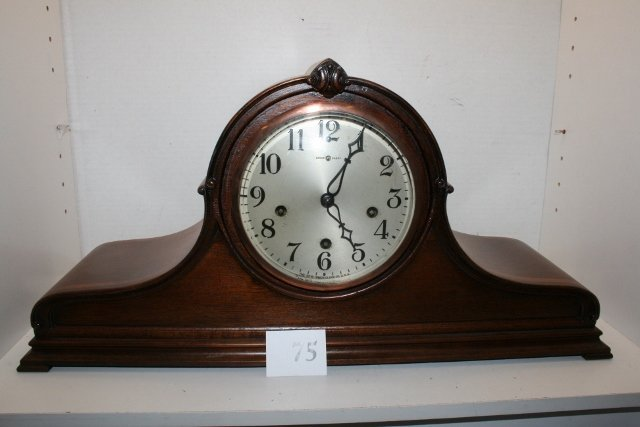 Walnut/inlay New Haven mantle clock