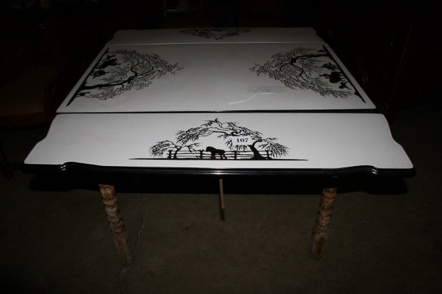 Porcelain top kitchen table - WILL NOT SHIP