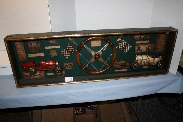 "Shadow box ""The History of Car Racing"""