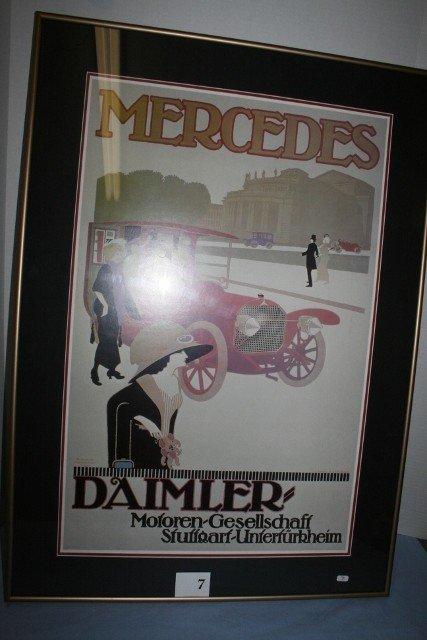 Framed Mercedes Auto Poster