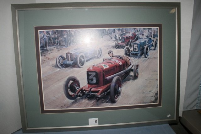 Framed Indy 500 Auto Race