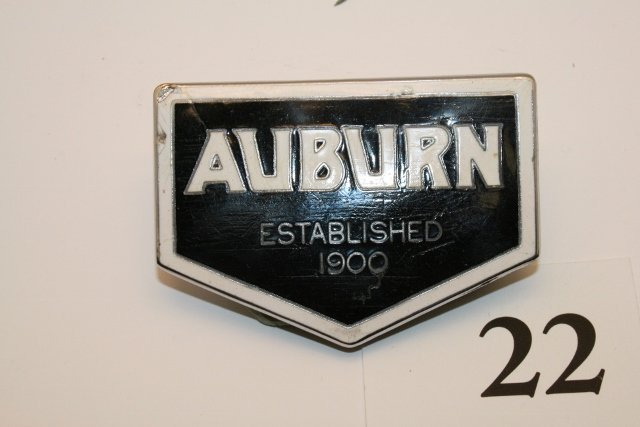 Auburn porcelain emblem