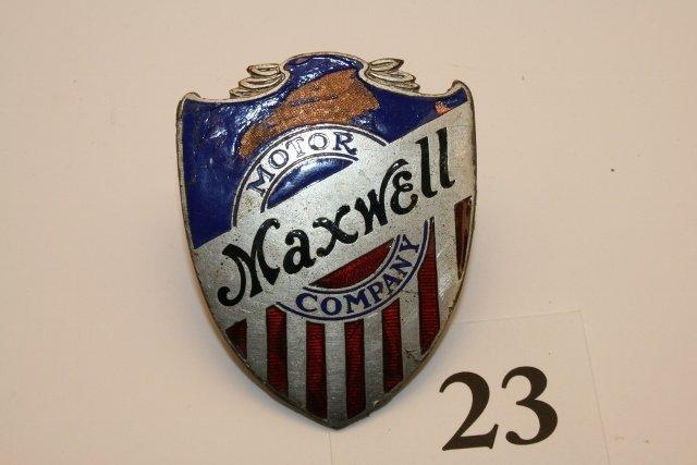 Maxwell enameled emblem