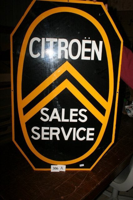 CITROEN sales and service sign  WILL NOT SHIP