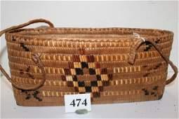 Polychrome Woven Basket