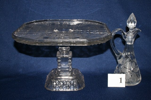 2 Pcs. Clear Victorian Glassware
