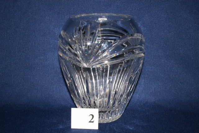 "8"" Clear Lead Crystal Vase"