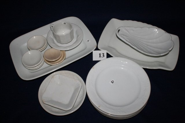 19 Pcs. White Ironstone