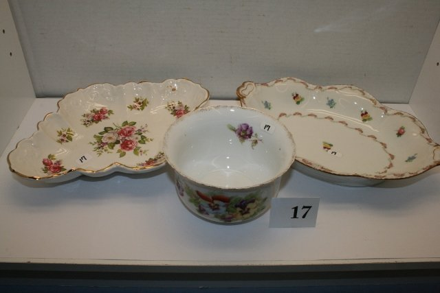 3 Hand Painted Dishes